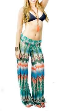 Letarte Printed Mesh Pants