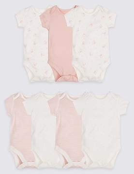 Marks and Spencer 7 Pack Animal Print Pure Cotton Bodysuits
