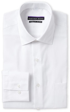 Geoffrey Beene White Sateen Classic Fit Dress Shirt
