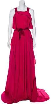 Bottega Veneta Raw-Edge-Trimmed Evening Dress