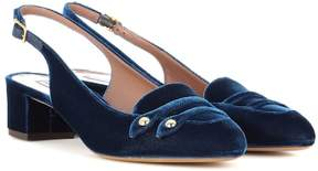 Tabitha Simmons Exclusive to mytheresa.com - Ines velvet sling-back pumps