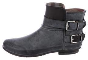 Burberry Rubber Ankle-Strap Rain Booties