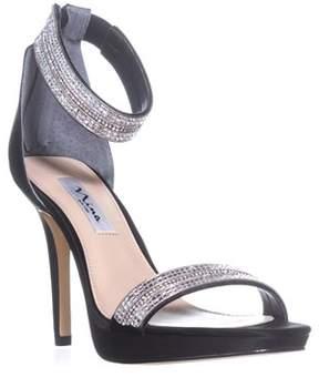 Nina Aubrie Ankle Strap Sandals, Black.