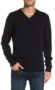 1901 Men's V-Neck Cotton Blend Sweater