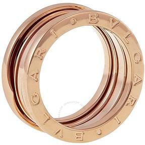 Bvlgari B.zero1 18kt Rose Gold 3-Band Ring Size 7