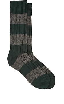 Corgi Men's Colorblocked Wool-Cotton Mid-Calf Socks