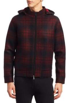 Saks Fifth Avenue MODERN Plaid Full Zip Jacket
