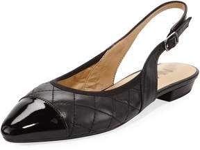 Neiman Marcus Githa Quilted Slingback Flat