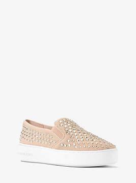 Michael Kors Trent Embellished Mesh Slip-On Sneaker