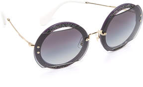 Miu Miu Glitter Reveal Sunglasses