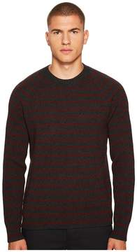 Vince Striped Ribbed Crew Men's Clothing