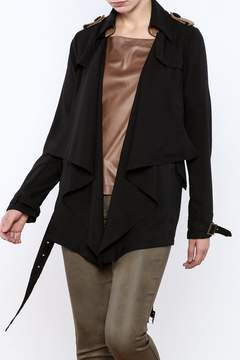 Double Zero Black Draped Jacket