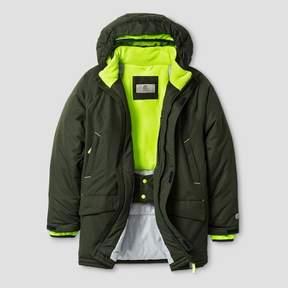 Champion Boys' Parka Jacket - Forest Grove/Reflector Green