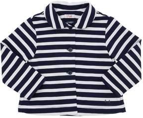 Il Gufo Striped Cotton Sweat Jacket