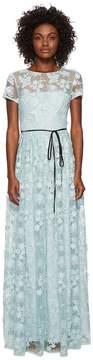 ML Monique Lhuillier Short Sleeve Long Lace Maxi Dress Women's Dress
