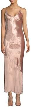 Fleur Du Mal Women's Velvet Slip Dress