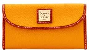 Dooney & Bourke Pebble Grain Continental Clutch Wallet - ORANGE - STYLE