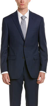 Ike Behar Wool Smart Suit With Flat Front Pant