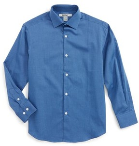 DKNY Boy's Textured Dress Shirt