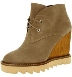 BCBGeneration Women's Nariska Suede Smoke Taupe Ankle-High Boot - 8.5M