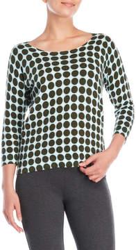 Altea Dot Print Keyhole Sweater