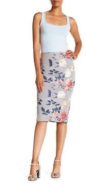 ECI Embroidered Midi Skirt