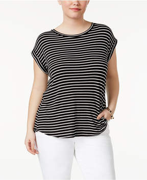 Celebrity Pink Trendy Plus Size High-Low T-Shirt