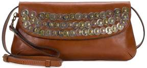 Patricia Nash Baku Coin-Embellished Leather Clutch