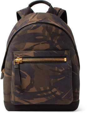 Tom Ford Camouflage-Print Nubuck Backpack