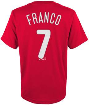 Majestic Boys 4-18 Philadelphia Phillies Maikel Franco Player Name and Number Tee