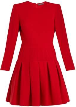 Alexander McQueen Padded-shoulder wool and silk-blend dress