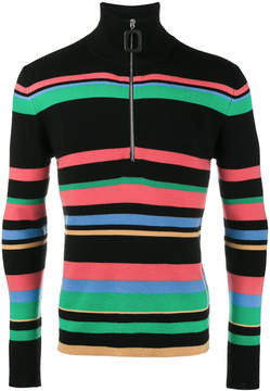 J.W.Anderson Striped Merino Zip Turtleneck