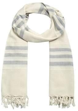 MANGO Striped monochrome scarf