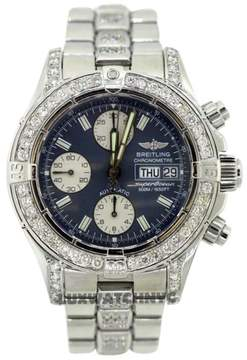 Breitling Chronomat Superocean A13340 Stainless Steel & Diamonds Mens Watch
