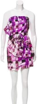 Ali Ro Silk Ruffle-Trimmed Dress w/ Tags