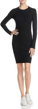 ATM Anthony Thomas Melillo Merino Wool Ribbed Sweater Dress