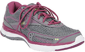 Ryka Leather & Mesh Sneakers w/ Memory Foam - Feather Walk