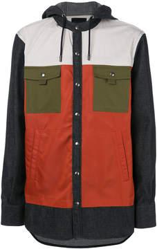 Diesel Black Gold colour block button jacket