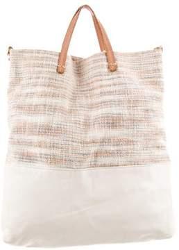 Clare Vivier Leather-Trimmed Colorblock Satchel