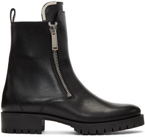 DSQUARED2 Black Zip-Up Boots