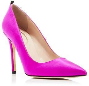 Sarah Jessica Parker Fawn Satin High Heel Pumps