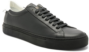 Givenchy Leather Urban Street Low Top Sneakers in Black.