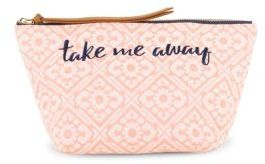 Madera Printed & Embroidered Pouch