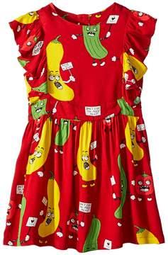 Mini Rodini Veggie Woven Ruffled Dress Girl's Dress