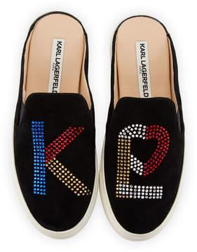 Karl Lagerfeld Paris Electra Suede Mule Sneakers