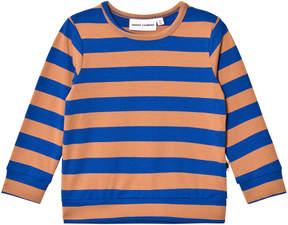 Mini Rodini Blue Blockstripe Long Sleeve Cuff T-Shirt