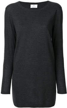 Allude long crew neck jumper