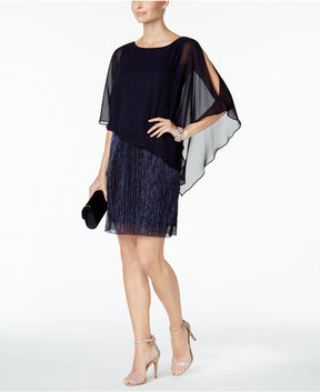 Connected Capelet Sheath Dress