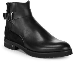 Versace Men's Leather Ankle Strap Boots