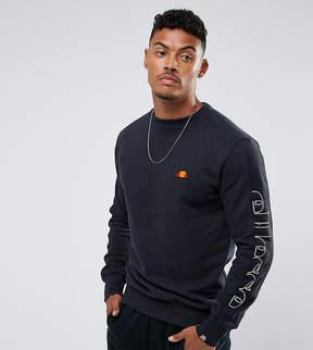 Ellesse Sweatshirt With Sleeve Split Logo In Black